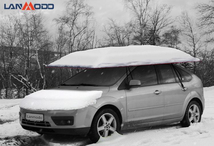冬の車のカバー