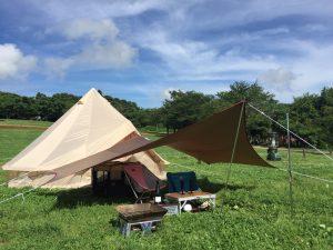 テントとタープを連結