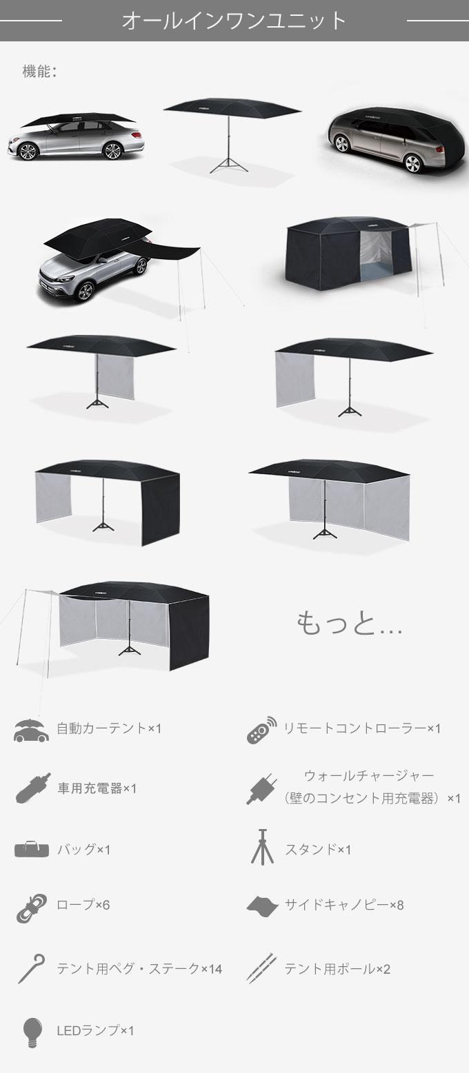 Lanmodo車の傘 使用20通り